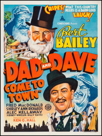 """Dad and Dave Come to Town (Associated Film Distributors, 1938). Australian One Sheet (30"""" X 40""""). Comedy"""