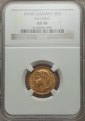 German States:Bavaria, German States: Bavaria. Otto gold 10 Mark 1910-D AU58 NGC,...