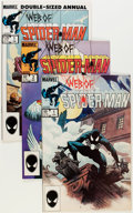 Modern Age (1980-Present):Superhero, Web of Spider-Man #1-129 Plus Group (Marvel, 1985-1995)....