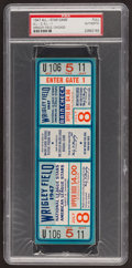 Baseball Collectibles:Tickets, 1947 MLB All-Star Game Full Ticket PSA Authentic. ...