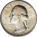 Washington Quarters: , 1932-S 25C MS64 PCGS. An appealing example of this, the only SanFrancisco Mint issue of 1932. The piece is brilliant and l...