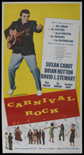"Movie Posters:Rock and Roll, Carnival Rock (Howco, 1957). Three Sheet (41"" X 81""). Rock andRoll. ..."