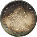 Early Half Dollars: , 1806 50C Pointed 6, Stem AU58 PCGS. O-118, R.4. Ex: Benson. Theearly die state of O-118 is more challenging to locate than...