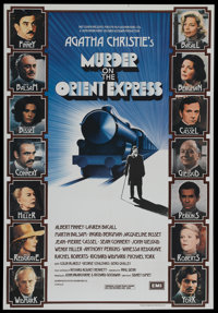 "Murder on the Orient Express (Paramount, 1974). British One Sheet (27"" X 39.25""). Mystery"
