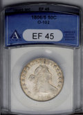Early Half Dollars: , 1806/5 50C XF45 ANACS. O-102, High R.3. This slightly brightexample displays ample honey-tinged luster, and the strike is ...