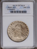 Early Half Dollars: , 1806/5 50C --Cleaned--ANACS. AU55 Details. O-103, R.2. Thisgenerally lustrous and faintly hairlined Bust half has little ac...