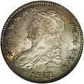 Bust Half Dollars: , 1821 50C MS64 NGC. O-105a, R.1. The variety is confirmed by theclose 21 in the date and the C of 50C being entirely right ...