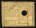 Colonial Notes:Massachusetts, Massachusetts May 5, 1780 $2 Hole Cancel Very Good.. ...