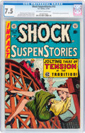 Golden Age (1938-1955):Horror, Shock SuspenStories #13 (EC, 1954) CGC VF- 7.5 Off-white to whitepages....