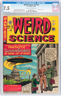 Golden Age (1938-1955):Science Fiction, Weird Science #13 (#2) (EC, 1950) CGC VF- 7.5 Off-white to whitepages....