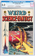Golden Age (1938-1955):Science Fiction, Weird Science-Fantasy #28 (EC, 1955) CGC VF 8.0 Off-white to whitepages....