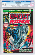 Bronze Age (1970-1979):Horror, Ghost Rider #1 Don/Maggie Thompson Collection pedigree (Marvel,1973) CGC NM- 9.2 White pages....