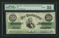Confederate Notes:1862 Issues, Fully Framed T50 $50 1862.. ...