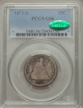 Seated Quarters: , 1871-S 25C Good 6 PCGS. CAC. PCGS Population (2/42). NGC Census:(0/26). Mintage: 30,900. Numismedia Wsl. Price for problem...