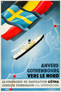 "Movie Posters:Miscellaneous, Sweden Travel Poster (Olsen, c. 1935). Poster (26"" X 39.25"").. ..."