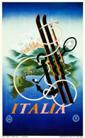 "Movie Posters:Miscellaneous, Italy Travel Poster (ENIT, c. 1936). Poster (24.5"" X 39.5"") Artist:A. M. Cassandre.. ..."