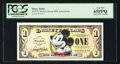 Miscellaneous:Other, Disney Dollar 2008 $1 Mickey Mouse 80th Anniversary. PCGS Gem New65PPQ.. ...