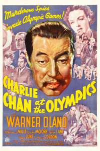 "Charlie Chan at the Olympics (20th Century Fox, 1937). One Sheet (27.25"" X 41"")"