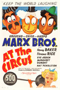 "Movie Posters:Comedy, At the Circus (MGM, 1939). One Sheet (27"" X 41"") Style C.. ..."