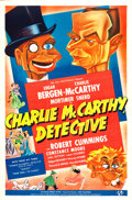 "Movie Posters:Comedy, Charlie McCarthy, Detective (Universal, 1939). One Sheet (27"" X41"") Style B.. ..."