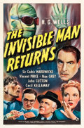 "Movie Posters:Horror, The Invisible Man Returns (Universal, 1940). One Sheet (27"" X 41"").. ..."
