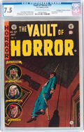 Golden Age (1938-1955):Horror, Vault of Horror #37 Don/Maggie Thompson Collection pedigree (EC,1954) CGC VF- 7.5 Off-white to white pages....