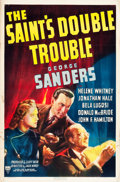 "Movie Posters:Mystery, The Saint's Double Trouble (RKO, 1940). One Sheet (27"" X 41"").. ..."
