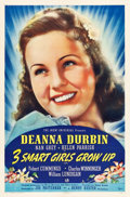 """Movie Posters:Comedy, 3 Smart Girls Grow Up (Universal, 1939). One Sheet (27"""" X 41"""")Style A.. ..."""