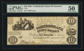 Confederate Notes:1861 Issues, T28 $10 1861 PF-9 Cr. 236.. ...