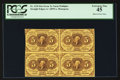Fractional Currency:First Issue, Fr. 1230 5¢ First Issue Block of Four PCGS Extremely Fine 45.. ...