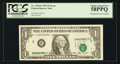 Error Notes:Shifted Third Printing, Fr. 1918-E $1 1993 Federal Reserve Note. PCGS Choice About New 58PPQ.. ...
