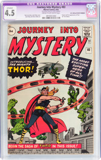 Journey Into Mystery #83 UK Edition - Trimmed (Marvel, 1962) CGC Apparent VG+ 4.5 Cream to off-white pages