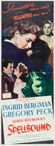 """Movie Posters:Hitchcock, Spellbound (United Artists, 1945). Framed Insert (14"""" X 36"""").. ..."""