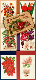 Books:Natural History Books & Prints, [Natural History]. Large Group of Lithographs and Engravings Depicting Flowers and Plants. Some matted. Various sizes. Very ...