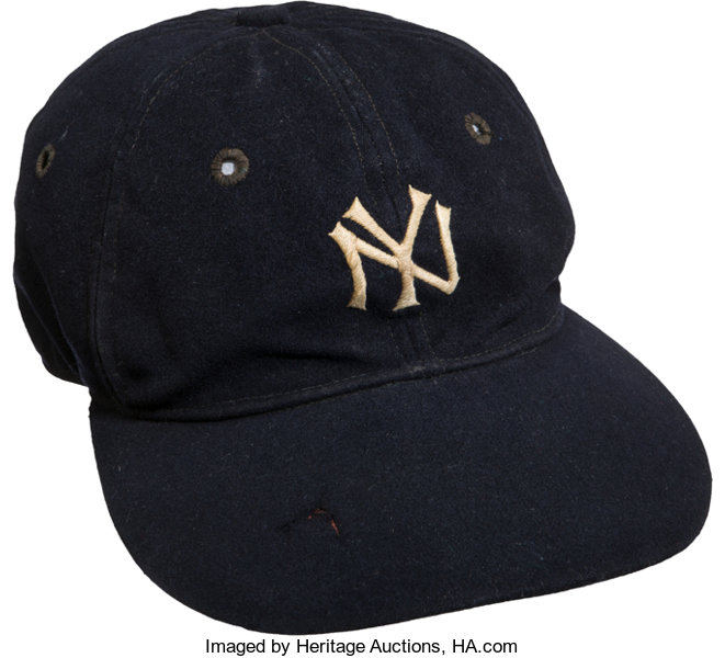 8d8f4e7518a2f 1930 s Lou Gehrig Game Worn New York Yankees Cap