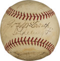 Autographs:Baseballs, 1937 New York Yankees Partial Team Signed Baseball withGehrig/McCarthy Sweet Spot!...