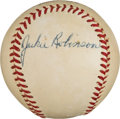 Autographs:Baseballs, Late 1940's Jackie Robinson Single Signed Baseball....