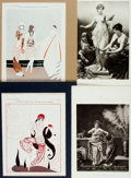 Books:Prints & Leaves, Large Group of Engravings and Lithographs Depicting ClassicalNudes. A few are matted. Various sizes. Very good. . . ...