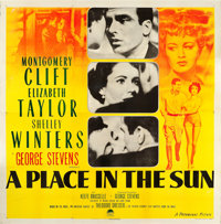 """A Place in the Sun (Paramount, 1951). Six Sheet (79"""" X 80.5"""")"""