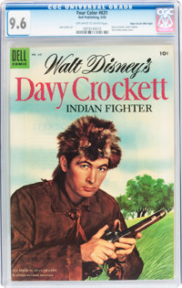 Four Color #631 Davy Crockett - Mile High pedigree (Dell, 1955) CGC NM+ 9.6 Off-white to white pages