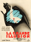 "Movie Posters:War, La Grande Illusion (R.A.C., R-1946). French Affiche (23.5"" X 31.5"").. ..."
