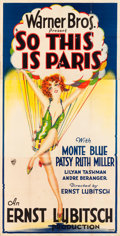 "Movie Posters:Comedy, So This is Paris (Warner Brothers, 1926). Three Sheet (41"" X 82"")....."