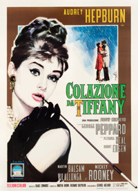 "Breakfast at Tiffany's (Paramount, 1962). Italian 2 - Foglio (39.5"" X 55"")"