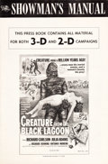 """Movie Posters:Horror, Creature from the Black Lagoon (Universal International, 1954). Uncut 3-D, 2-D Pressbook (16 Pages, 12"""" X 18"""").. ..."""
