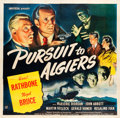 "Movie Posters:Mystery, Pursuit to Algiers (Universal, 1945). Six Sheet (79.5"" X 81"").. ..."