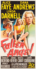 "Movie Posters:Film Noir, Fallen Angel (20th Century Fox, 1945). Three Sheet (41"" X 80"")....."