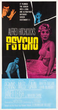 "Movie Posters:Hitchcock, Psycho (Paramount, 1960). Three Sheet (41.25"" X 79"").. ..."