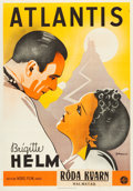 "Movie Posters:Science Fiction, Queen of Atlantis (Nero-Film AG, 1932). Swedish One Sheet (27.5"" X39.25"").. ..."
