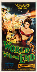 "Movie Posters:Science Fiction, World Without End (Allied Artists, 1956). Three Sheet (41"" X 79"").. ..."