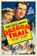 "Movie Posters:Serial, The Oregon Trail (Universal, 1939). One Sheet (27"" X 41"").. ..."
